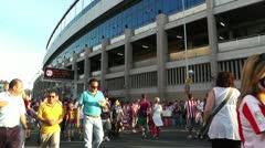Estadio Vicente Calderon before match Copa Del Rey Final 2012 02 Stock Footage