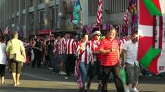 Estadio Vicente Calderon before match Copa Del Rey Final 2012 03 handheld Stock Footage