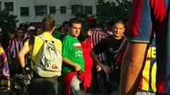 Estadio Vicente Calderon before match Copa Del Rey Final 2012 04 handheld Stock Footage