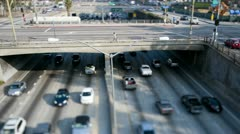 Time Lapse of  Traffic in Downtown Loa Angeles. Tilt Shift Stock Footage