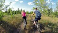 Biking bicycles Stock Footage