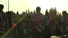 Estadio Vicente Calderon before match Copa Del Rey Final 2012 06 handheld Stock Footage