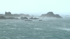 Wind Blown Sea And Rocks 2 - stock footage