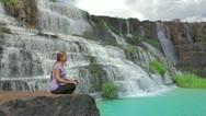 Meditating Stock Footage