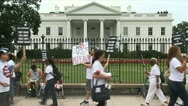 HIV-AIDS activists at the White House Stock Footage