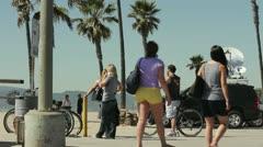 Beach Parking Lot Stock Footage