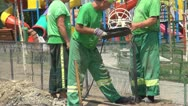 Stock Video Footage of Workers Welding a Fence, Workers Soldering a Fence