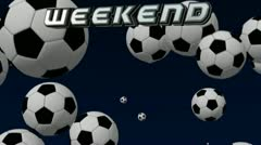 Soccer Weekend Event Stock Footage