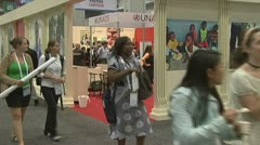 2012 International AIDS Conference Stock Footage