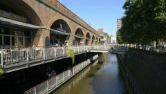 Deansgate Locks 1, Manchester - stock footage
