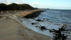 Hawaii Beach Erosion 4 Stock Footage