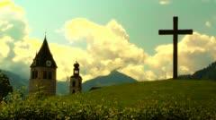European Alps Austria 33 stylized Stock Footage