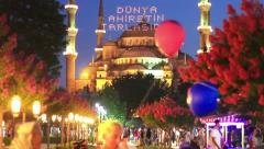 Sultanahmet in Month of Holy Ramadan Stock Footage