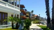 Row Of Beach Houses Naples Island- Long Beach CA Stock Footage