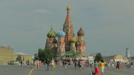 Kremlin Red square in Moscow with people crowds, day time Stock Footage