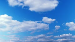white clouds on blue time lapse t3292 - stock footage