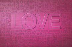 Love valentine word cloud Stock Illustration