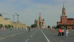 Stock Video Footage of Kremlin Red square in Moscow with people crowds, day time