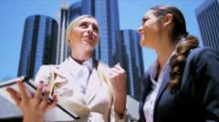 Successful female business executives Stock Footage