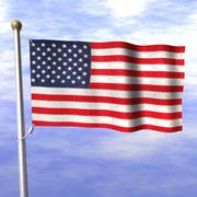 3d model of Old Glory
