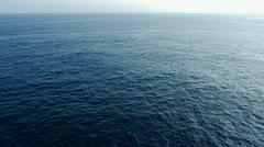 infinite blue ocean - stock footage