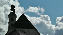 European Alps Austria Clouds Timelapse 02 Stock Footage
