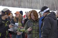 Stock Photo of Shawn White signs autographs 2007 World Superpipe Championship Park City