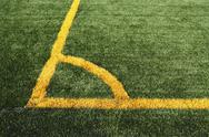 Stock Photo of Soccer Corner Marking