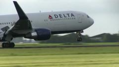 Stock Video Footage of Delta Airlines Close-Up