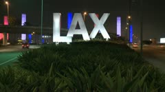 Time Lapse of the LAX Airport Sign Stock Footage