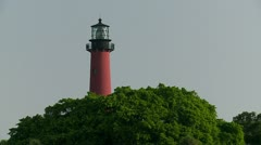 Jupiter Lighthouse w:Trees Stock Footage