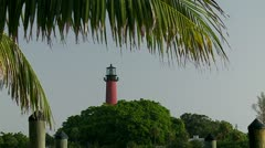 Jupiter Lighthouse Stock Footage