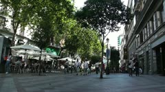 Madrid Calle De La Montera 01 Stock Footage
