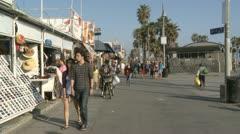 Time Lapse of the Venice Boardwalk Stock Footage