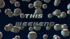 Baseball Weekend - stock footage
