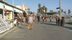 Time Lapse of the Venice Boardwalk - stock footage