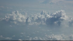Clouds seen through the window of jet airplane FULL HD 1080P Stock Footage