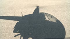Shadow of Helicopter talking off. Stock Footage