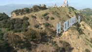 Aerial of the Hollywood Sign Stock Footage