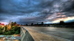 HDR overpass - stock footage