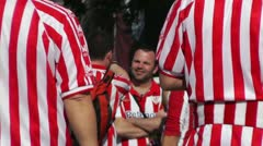 Madrid Casa De Campo before Copa del Rey Final 2012 Athletic Bilbao Fans 03 Stock Footage