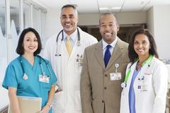 Stock Photo of Administrator, doctors and nurse in hospital