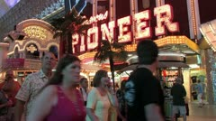 1440 Old Vegas Fremont St 4 Stock Footage