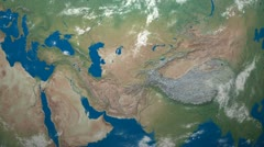 3D Earth Globe Map, Middle East Stock Footage
