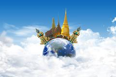 Stock Illustration of thailand bangkok travel concept