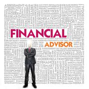 Stock Illustration of business word cloud for business and finance concept