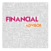 Business word cloud for business and finance concept Stock Illustration
