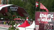 Stock Video Footage of Madrid Casa De Campo before Copa del Rey Final 2012 Athletic Bilbao Fans 08