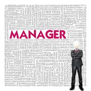 Stock Illustration of business word cloud for business concept, manager