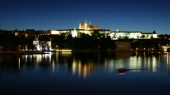 Prague Castle, Timelapse, Night - stock footage